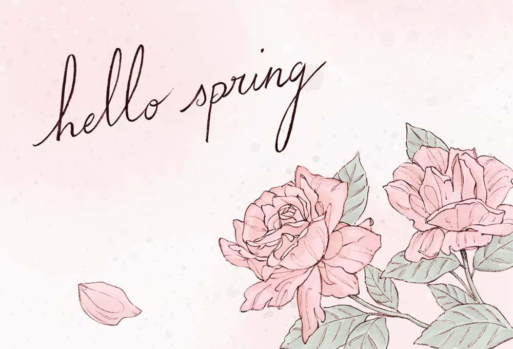Hello spring et fleurs