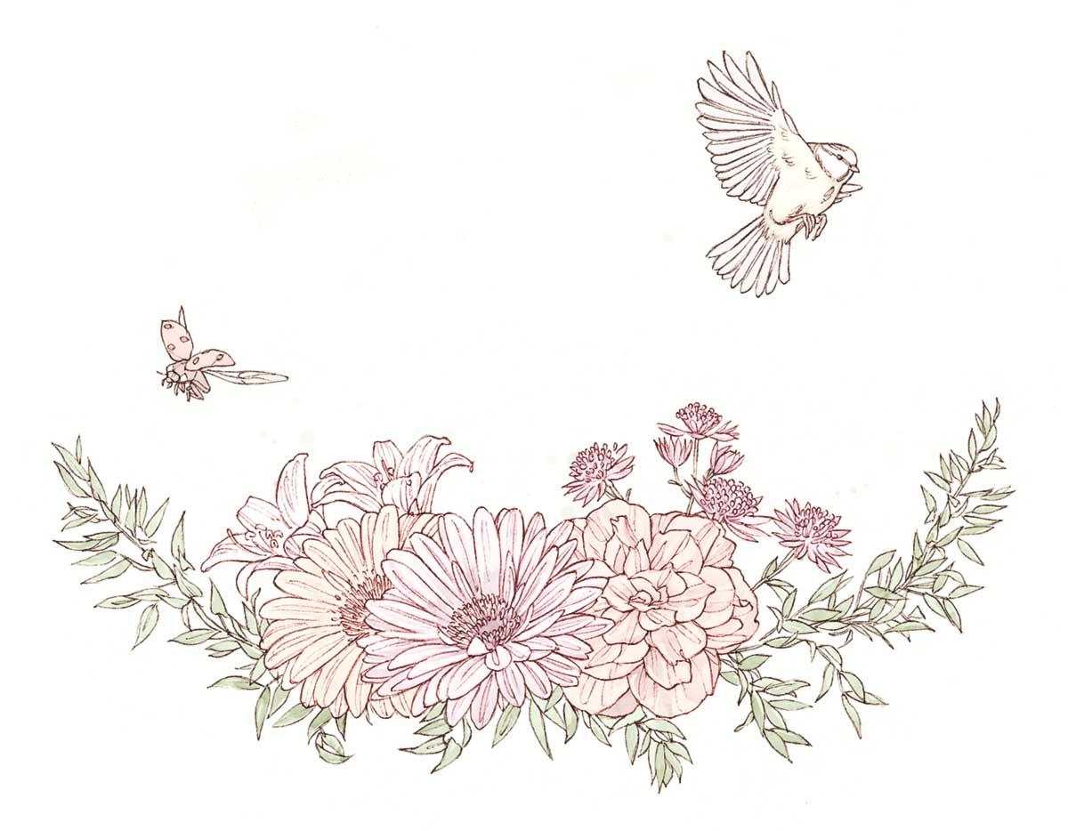 Fleurs et animaux miniature