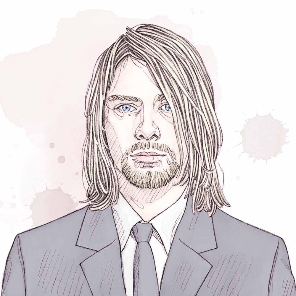 Kurt Cobain miniature