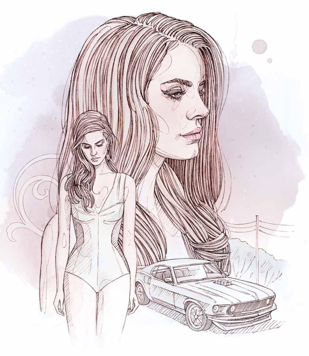 Représentation du morceau White Mustang de Lana del Ray